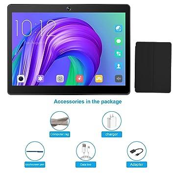 Tableta 10.1 Pulgadas, Android 7.0 Tablet PC con Ranura para Tarjeta SIM Dual, 3G, gsm, Quad Core, 2 GB de RAM + 32 GB ROM, cámara Dual incorporada, ...