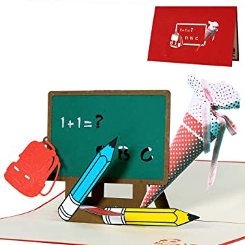 Geldgeschenkkarte Schult/üte Geldgeschenk zum Schulanfang Einschulungskarte