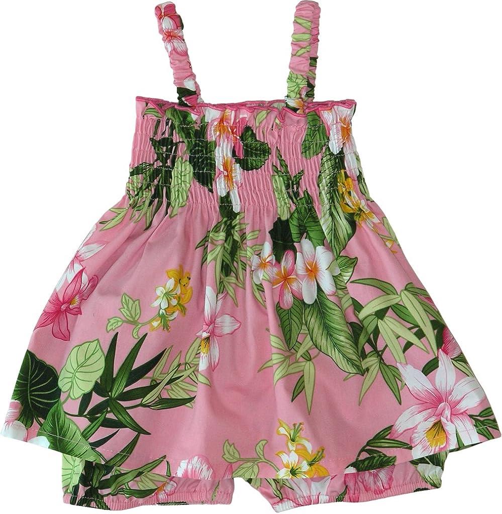 RJC Baby Girls Paradise Grove Smocked Hawaiian 2 Piece Dress Set