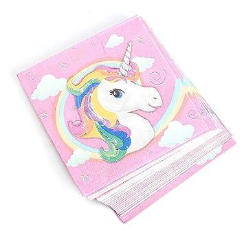 Servilletas Cumpleaños, unicornio Mantel decoración Platos ...