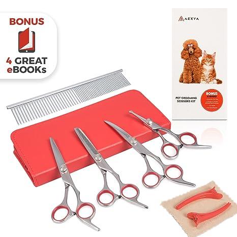 Amazon.com: Juego de tijeras de peluquería para perros de ...