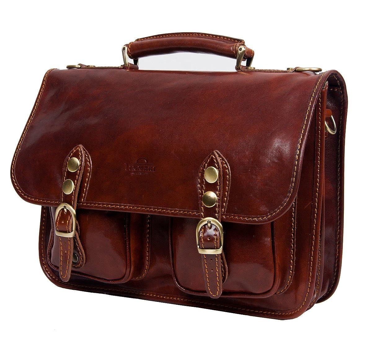 Timmari Vine Collection Italian Leather Messenger Bag