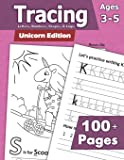 Tracing: Letters, Numbers, Shapes, and Logic - Unicorn Edition: Preschoolers and Kids Ages 3-5 - Handwriting and Counting Workbook
