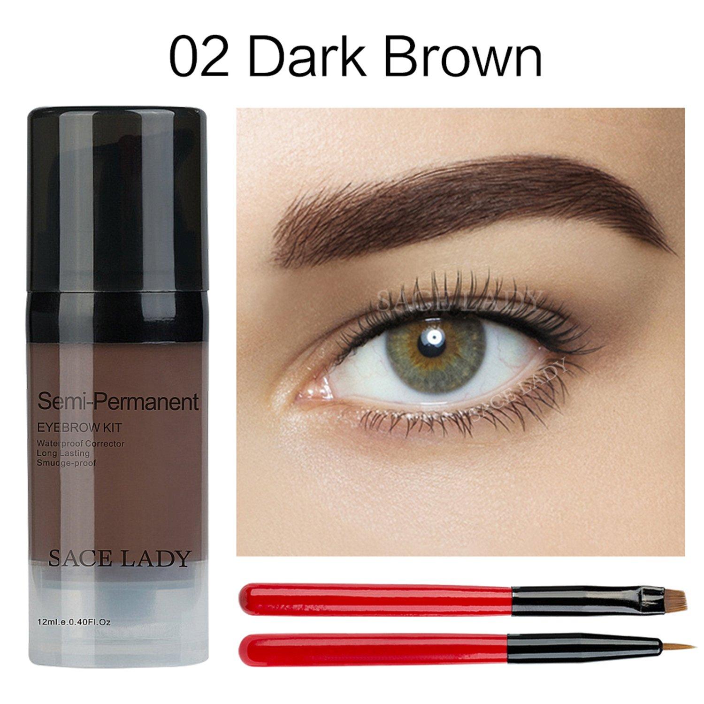 1f04b9ab8fe9 Waterproof Eyebrow Tint Gel Kit, Long Lasting Brow Color Gel Mascara for  Eyebrow...