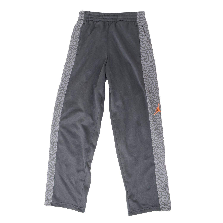 Nike Boys Therma-FIT Jordan Elephant Print Basketball Pants (Gray Camo/Elephant Print/Solar Orange, Small (8-10 YRS))