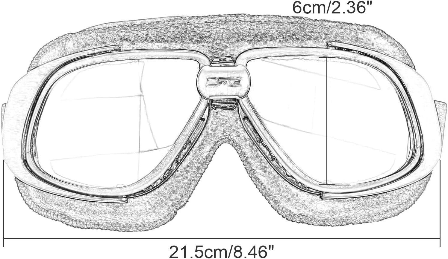 Occhiali da sole retr/ò vintage occhiali protettivi pilota moto sport per Harley