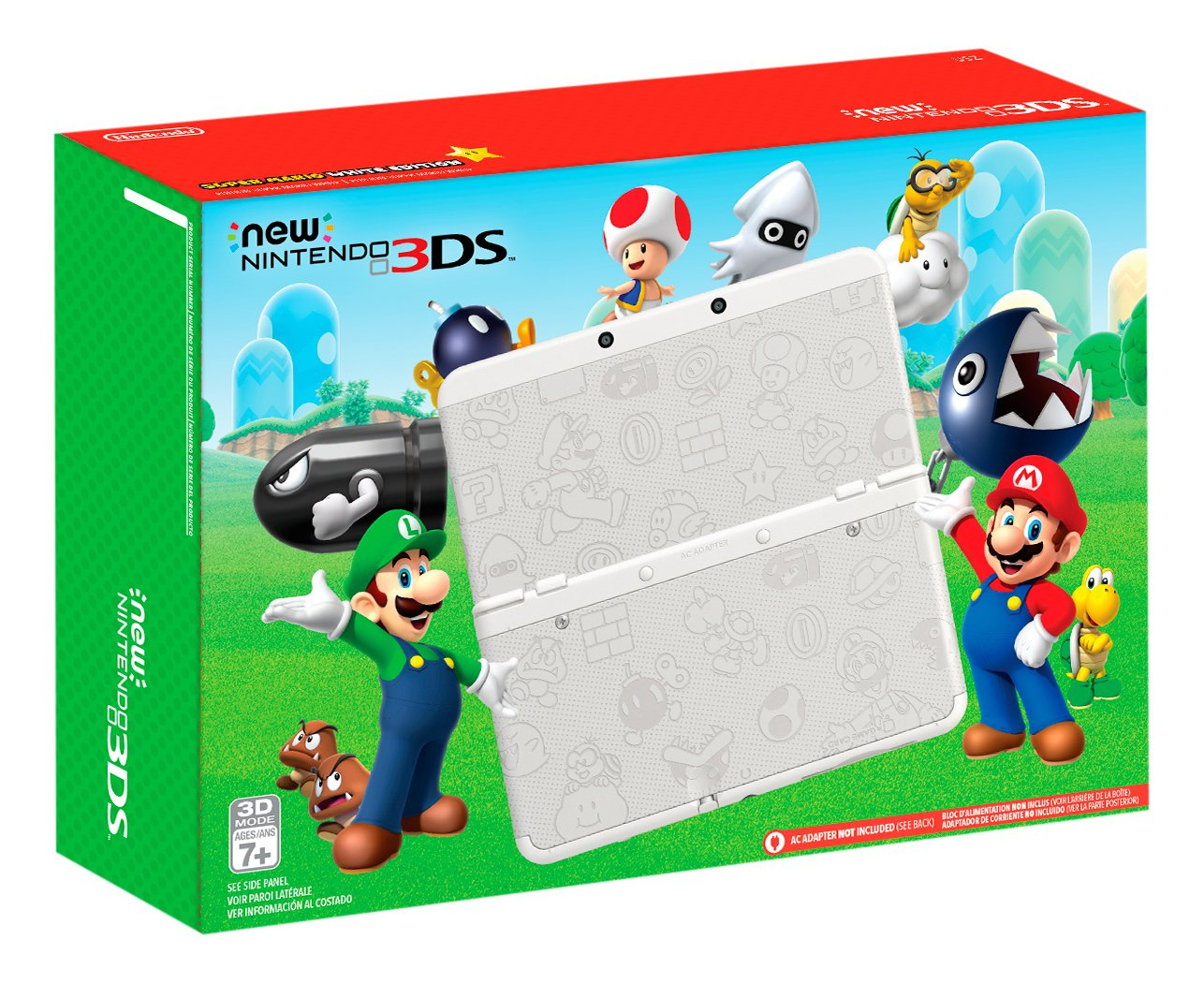 Nintendo New 3DS - Super Mario White Edition [Discontinued] by Nintendo