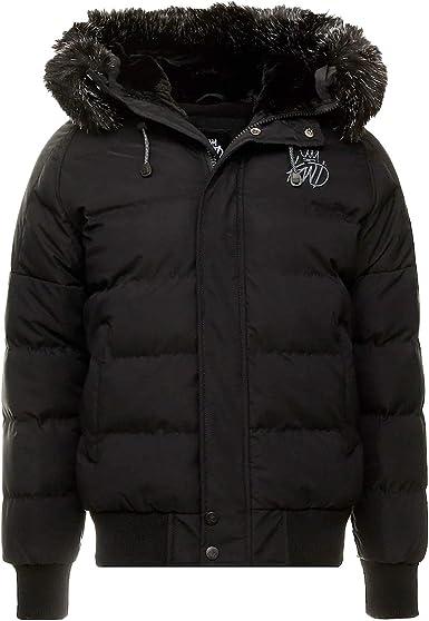 Camo King/'s Will Dream Junior Stretford Reversible Puffer Jacket Coat Black