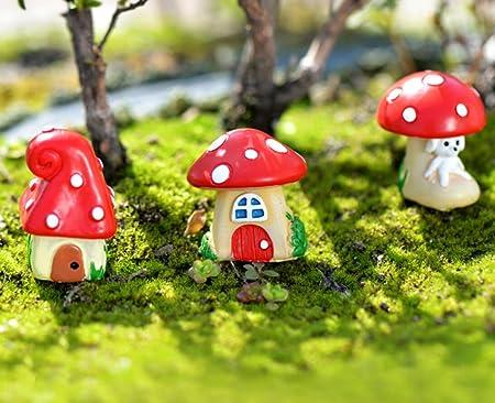 JinZhiCheng - Juego de 3 mini setas para decoración de hadas, jardín, Bonsai (colorido): Amazon.es: Hogar