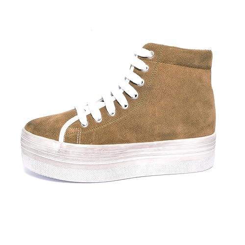 Jeffrey Campbell - Zapatillas de Material Sintético para Mujer Beige Beige IT 40: Amazon.es: Zapatos y complementos