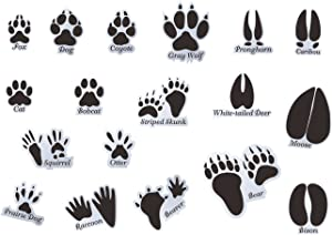 Mozamy Creative Animal Tracks Wall Decals (18 Count) Animal Wall Decals Animal Tracks Wall Decor Boys Room Wall Decals Removable Peel and Stick Wall Decals, Black (Animal Tracks 1)