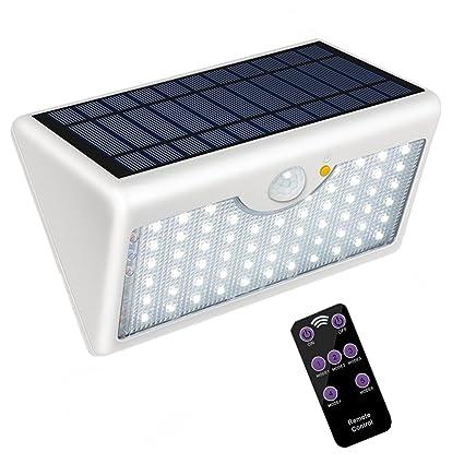 5 Modes Applique Solaire Exterieur Avec Telecommande Super Lumineux
