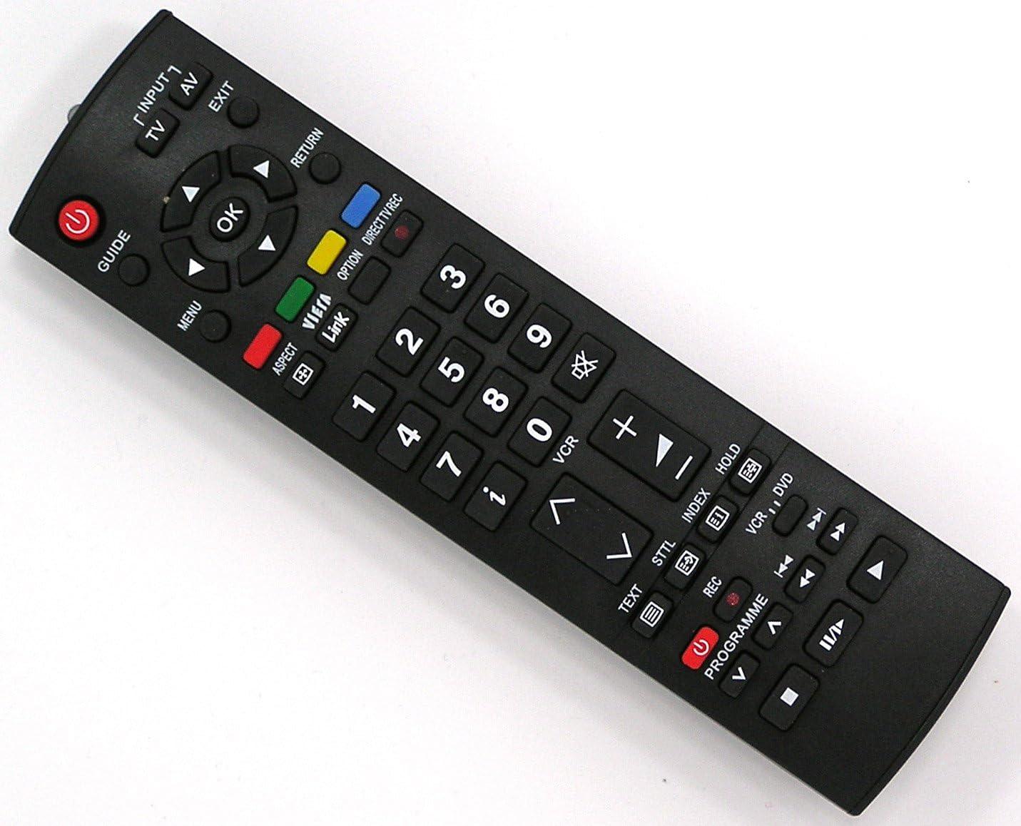 Mando a distancia de repuesto para Panasonic TH-37pv7p/F TH-37px7e TH-37PX8E TH-37px8ea TH-37px8esa TH-37pxe/B TH-42pv7p/F TH-42pv8p TH-42px7e/B TH-42PX8B TH-42px8ba: Amazon.es: Electrónica