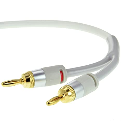 Mediabridge 16AWG ULTRA Series Speaker Cable with Dual Gold Plated Banana Tips (25 Feet)