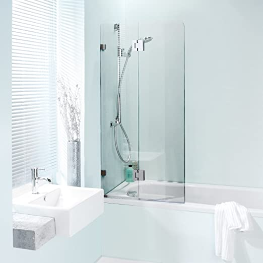 Homcom – Mampara para bañera de cristal templado, de 86 x 150 cm ...