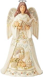 Enesco Jim Shore Heartwood Creek White Woodland Harvest Angel Figurine