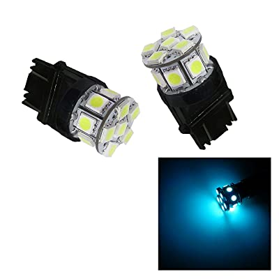 PA 2pcs 13SMD LED 3157 3457A 3156 Auto Stop Light/ Back Light / Side Marker Light / Tail Light / Turn Signal Light Bulbs Ice Blue-12V: Automotive