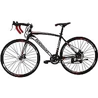 OBK Road Bike 700C Wheels 21 Speed Daul Disc Brakes Mens or Womens Bicycle Cycling 54cm/49cm Frame
