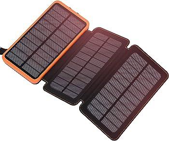 FEELLE Solar Power Bank, 24000mAh Solar Charger