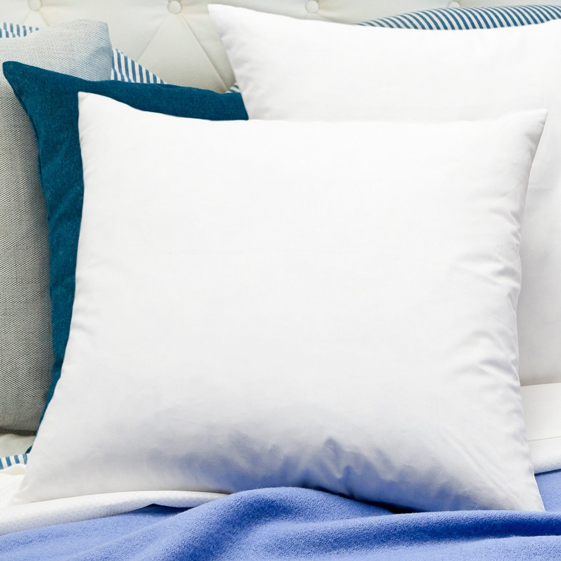 Simple Comfort Premium 95% Feather/5% Down Pillow Insert, Sham Stuffer (28'' x 28'')
