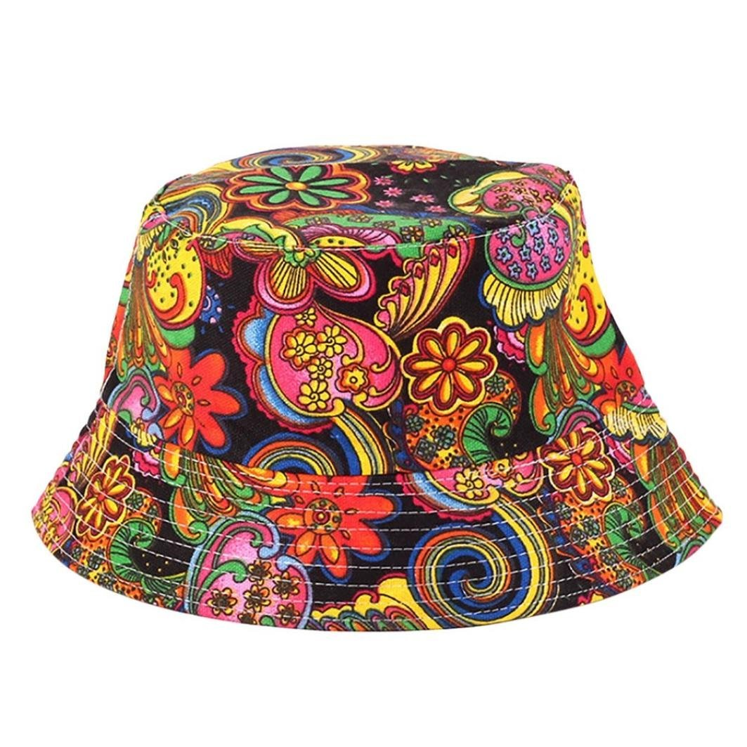 Adjustable Cap Flower Print Boonie Hats Nepalese Cap Army Mens Fisherman Hat B