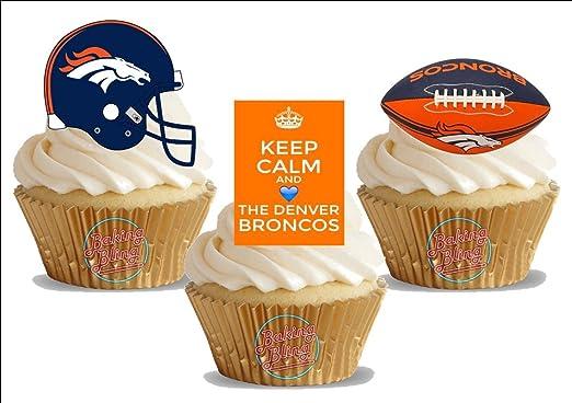 Brilliant Amazon Com American Football Denver Broncos Trio Mix Fun Birthday Cards Printable Trancafe Filternl