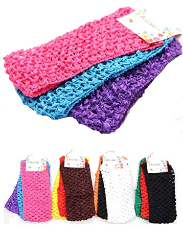 Azzon 36 Pieces Wide Crochet Elastic Stretch Boutique Headband Hair Wrap  Band Beauty Accessory for Woman 18991306512