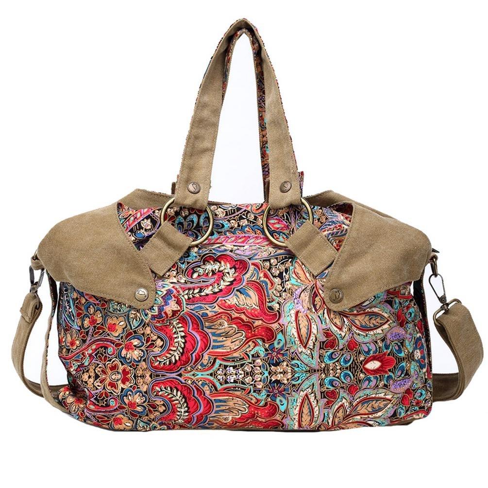 BLACK BUTTERFLY Women 's Fashion Canvas Tote Bag Messenger Bag Handbag Shoulder Bag