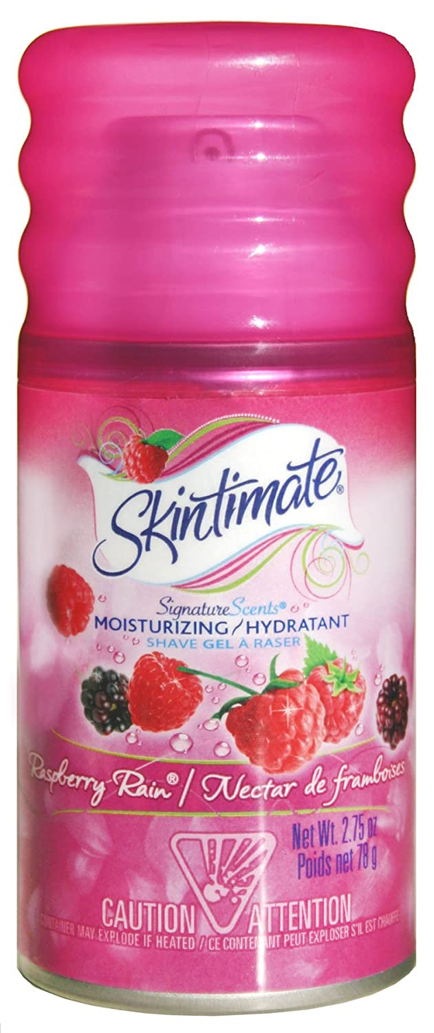 Skintimate Signature Scents Moisturizing Shave Gel for Women Raspberry Rain with Vitamin E and Olive Butter - 2.75 Ounce X00548