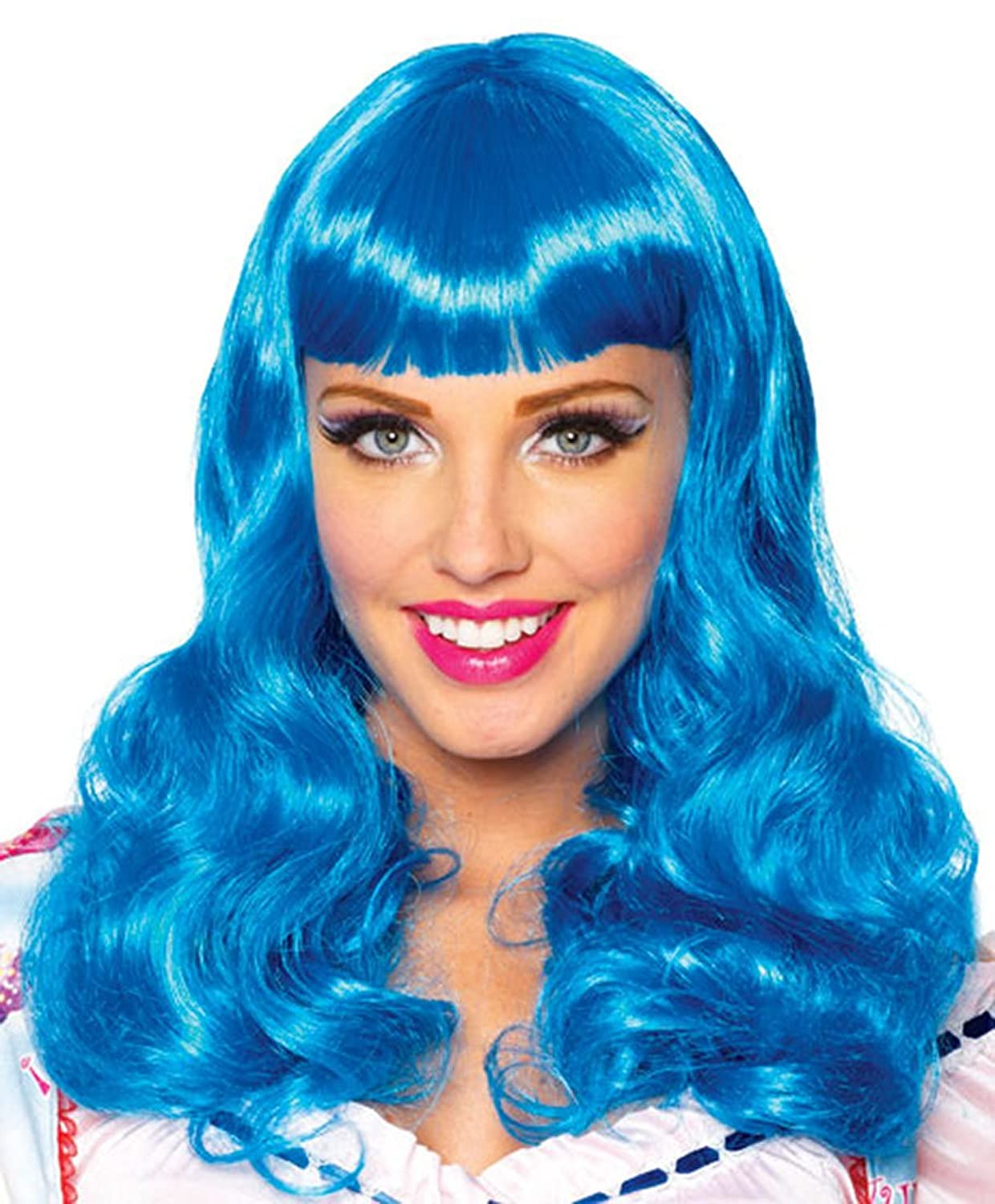 amazon com katy perry blue party wig one size clothing
