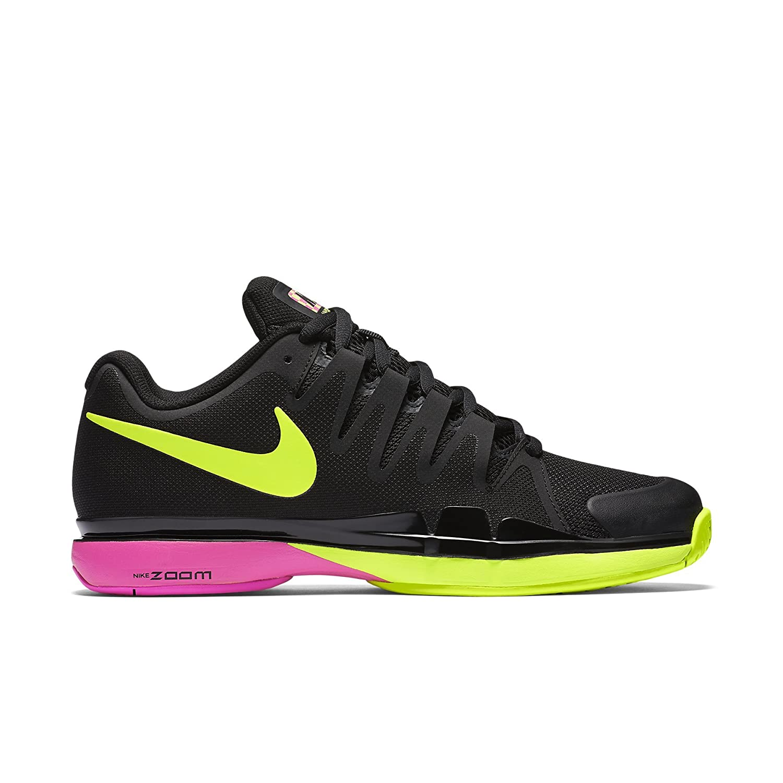 a3db272b6c87 Nike Mens Zoom Vapor 9.5 Tour Tennis Shoes Black Volt Pink Blast 631458-076  Size 9  Amazon.ca  Clothing   Accessories