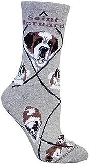product image for Saint Bernard Dog Gray Large Cotton Socks