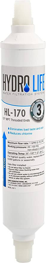 Camco 52117 Replacement Threaded Water Filter For Hl 170