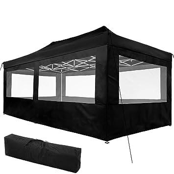 7cd11085323 TecTake 800688 Carpa de Jardín 6 x 3m, Plegable, Aluminio, 100% Impermeable