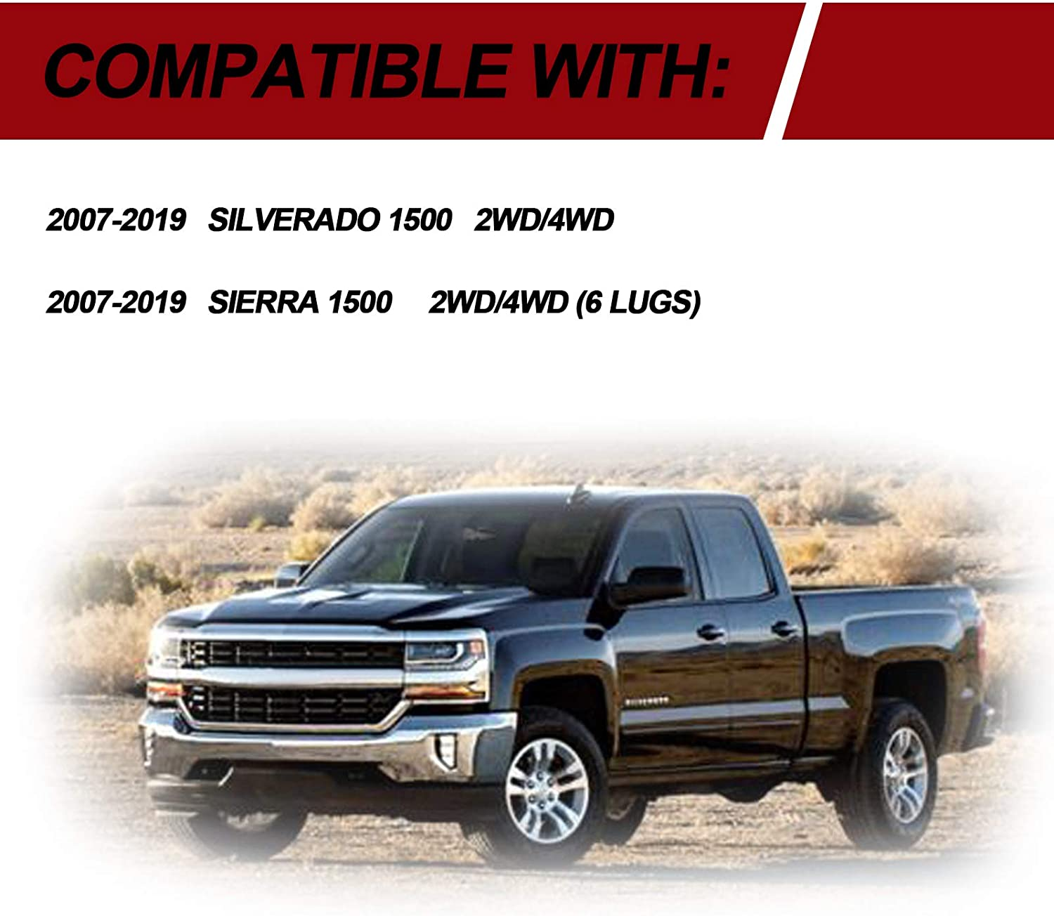 DEEN 3 Leveling Lift Kit for 2007-2019 Silverado 1500//2007-2019 Sierra 1500 ,3 inch Forged Front Strut Spacers Suspension Lift Leveling Kits 2WD//4WD