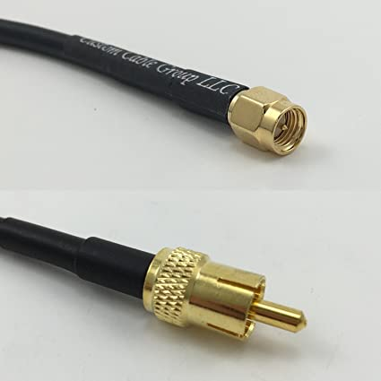 3 feet RG58 SMA MALE to RCA MALE Pigtail Jumper RF coaxial cable 50ohm High Quality