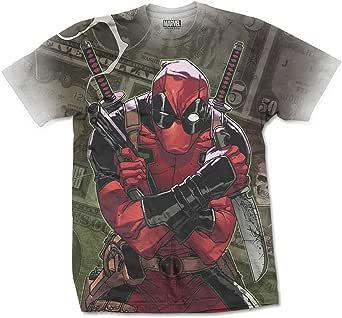 Deadpool Cash Sublimation Marvel X-Men Oficial Camiseta para Hombre
