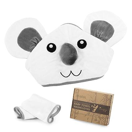 Toalla para bebé con capucha y toallitas hechas de fibra 100% de bambú: Amazon.es: Bebé