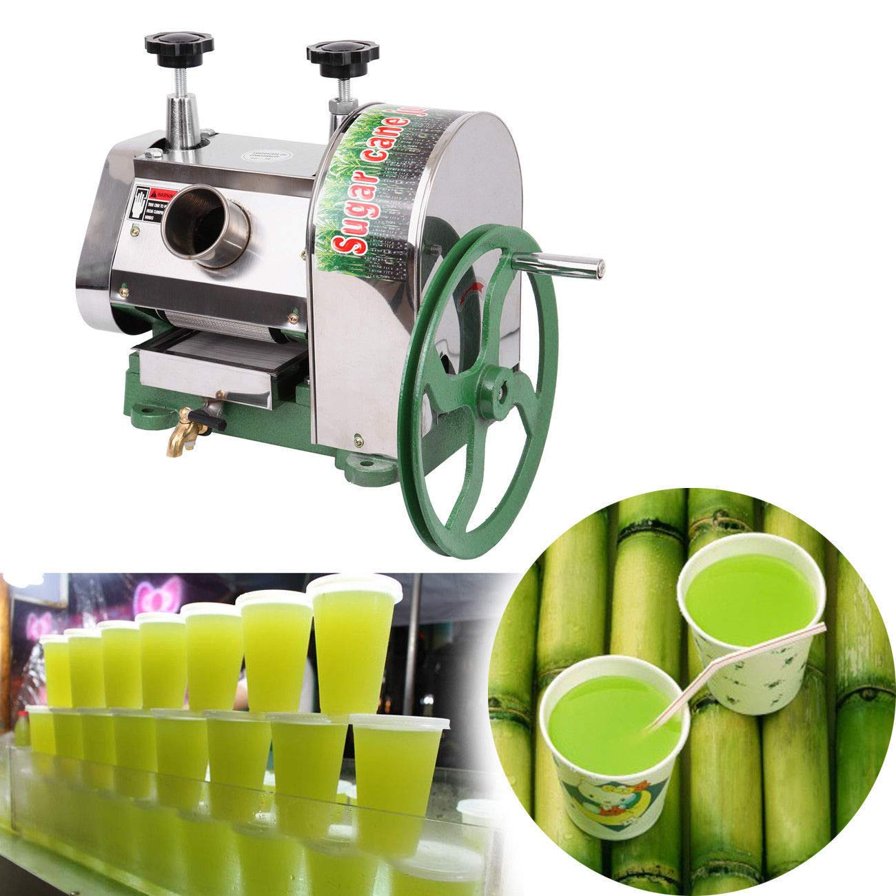 TryE Sugarcane Juicer Machine Manual Sugar Cane Press Extractor Squeezer by TryE