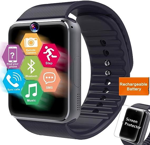 Amazon.com: Reloj inteligente deportivo con pantalla táctil ...