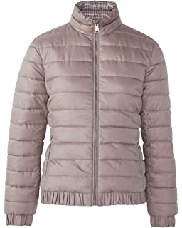 595df05de19e MASSIMO DUTTI Women's Reversible Quilted Houndstooth Jacket 6711/616 Beige