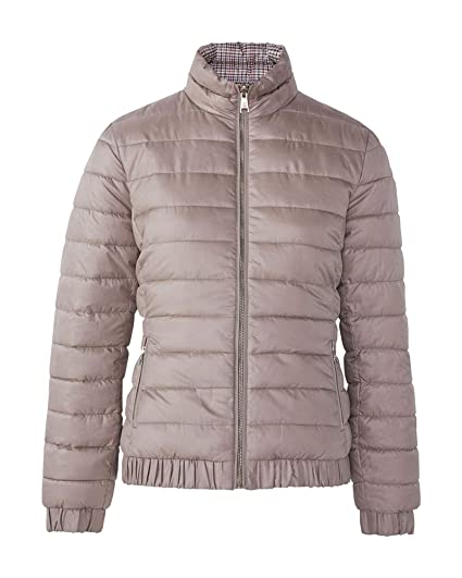 d6766744cb MASSIMO DUTTI Women's Reversible Quilted Houndstooth Jacket 6711/616  (X-Small) Beige
