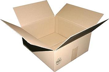 5 Caja de cartón plegable.400 x 400 x 100 mm, 1 ondulación.Cajas de Cartón. Cajas.Mudanza Cartón.Mudanza Cajas.: Amazon.es: Oficina y papelería