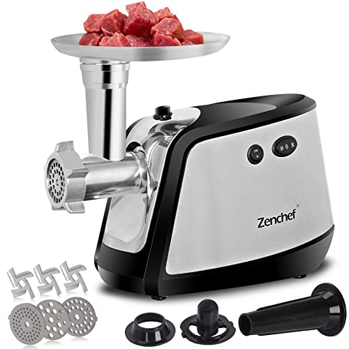 ZenChef Pro 3-in-1 Electric Meat Grinder, Meat Mincer & Sausage Stuffer
