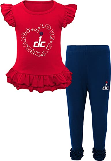 NBA Toddler One and One Pant Set Washington Wizards-Red-4T