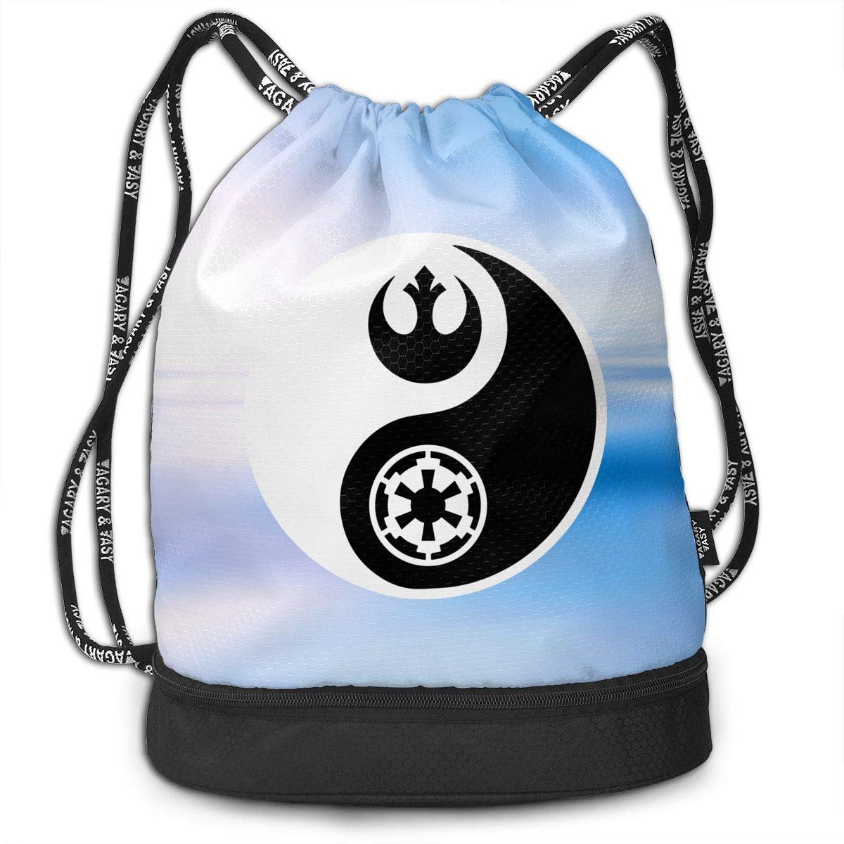 Rebel And Empire Men And Women Drawstring Pack Beam Mouth Yoga Sackpack Shoulder Bags