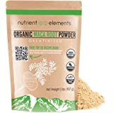 Premium Organic and Raw Maca Root Powder - 2 lbs - USDA Certified and Gelatinized in 32oz Resealable Pack by Nutrient Elements - Free E-Book with Delicious Recipes Included
