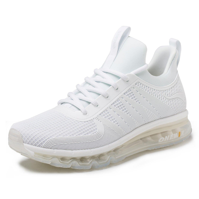 ONEMIX Hombre Zapatillas de Running Fitness Casual zapatilla de deporte 44 EU|Blanco