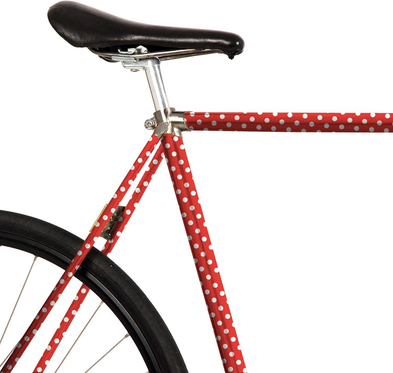 mooxi de Bike Bicicleta de Pantalla Polka Dots – Diseño Puntos Blancos sobre Rojo (Suficiente para Notebook áreas): Amazon.es: Deportes y aire libre