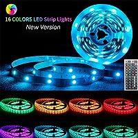 Suyoo LED Strip Lights 5M 240LEDs Flexible Color Changing Led Light Strip Kit 5050 RGB Rope Light